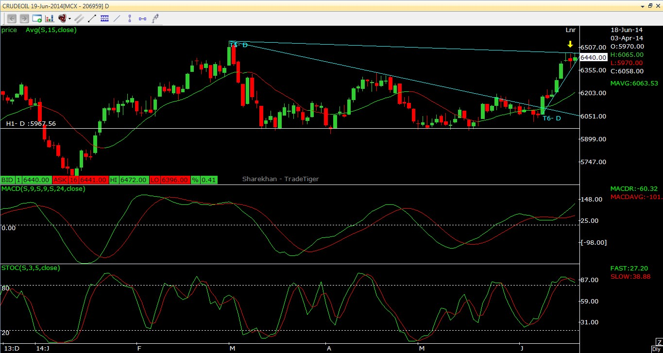 Crude Oil Technical Outlook 18.06.2014