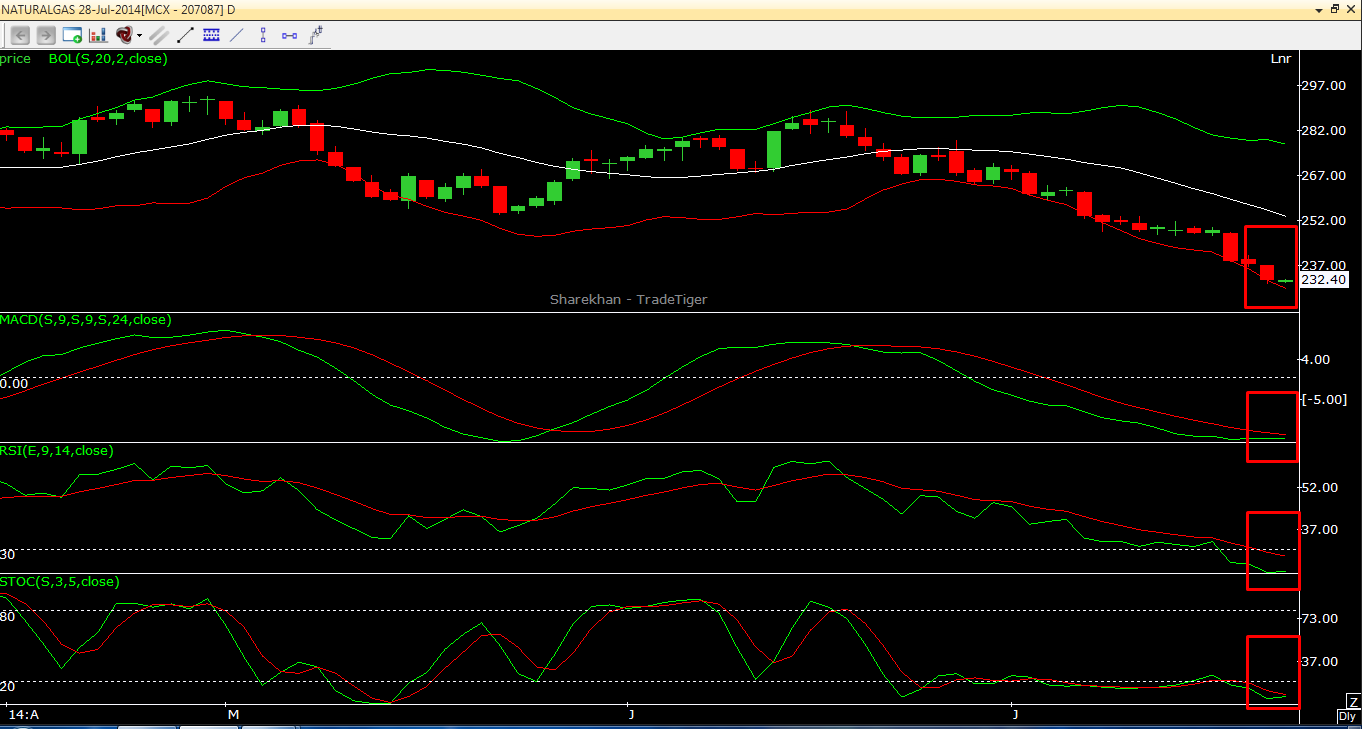 Natural Gas Short term view based on Technical Charts 22.07.2014